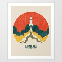 universe Art Prints featuring Come See The Universe by Picomodi