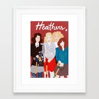 heathers Framed Art Prints featuring Heathers by Ana Maia