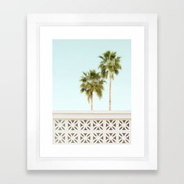 Palm Springs Breeze Block I Framed Art Print