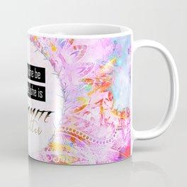 Watercolor Pastel Boho Dynamite and Glitter Coffee Mug