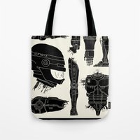 robocop Tote Bags featuring Decommissioned: Robocop by Josh Ln