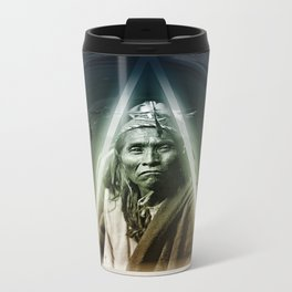 Dark Bubbles Metal Travel Mug