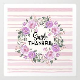 Simply Thankful Art Print