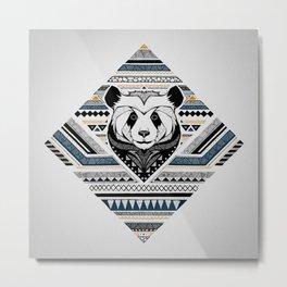 Indian Panda Metal Print