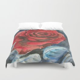 Water Color Rose Study  Duvet Cover