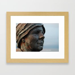Waiting for him to come back Framed Art Print