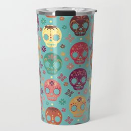B's Candy Skulls Travel Mug