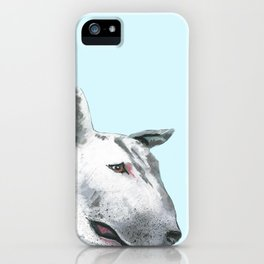 Bullterier, printed from an original painting by Jiri Bures iPhone Case