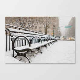 Snowing in Central Park Canvas Print