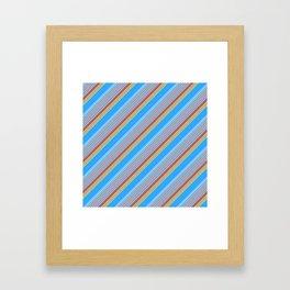 Summer Inclined Stripes Framed Art Print