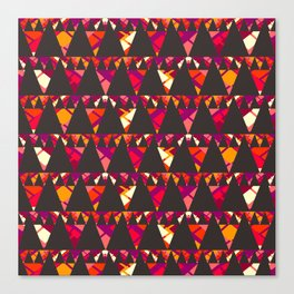 Vibrant triangles Canvas Print