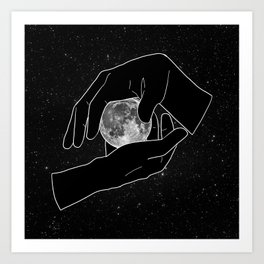 Hold the Moon Art Print