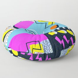 Retro memphis mess Floor Pillow