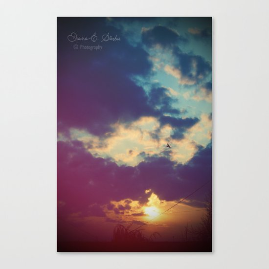 Stay with me for a while Canvas Print