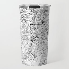 Basel Map White Travel Mug