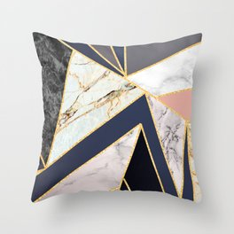 Marble Triangles P01 Throw Pillow