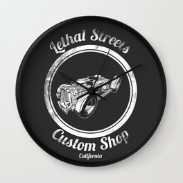 Lethal Streets Wall Clock