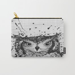 """""""SWOOP"""" Black & White Carry-All Pouch"""