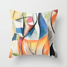 Fluent Figures Throw Pillow