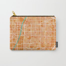 Santa Ana, CA, USA, Gold, Blue, City, Map Carry-All Pouch