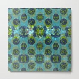 Spools in Blue Metal Print
