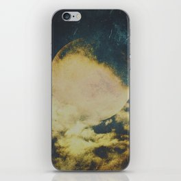Golden moon iPhone Skin