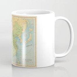 Aged Map of China Coffee Mug