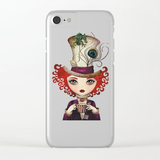 Lady Hatter Clear iPhone Case