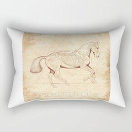 Da Vinci Horse: Canter Rectangular Pillow