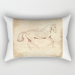 Da Vinci Horse: Canter Rectangular Pillow
