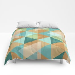 Colorful Diamond Geometric Design Comforters