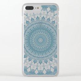 Boho Blue Mandala Clear iPhone Case