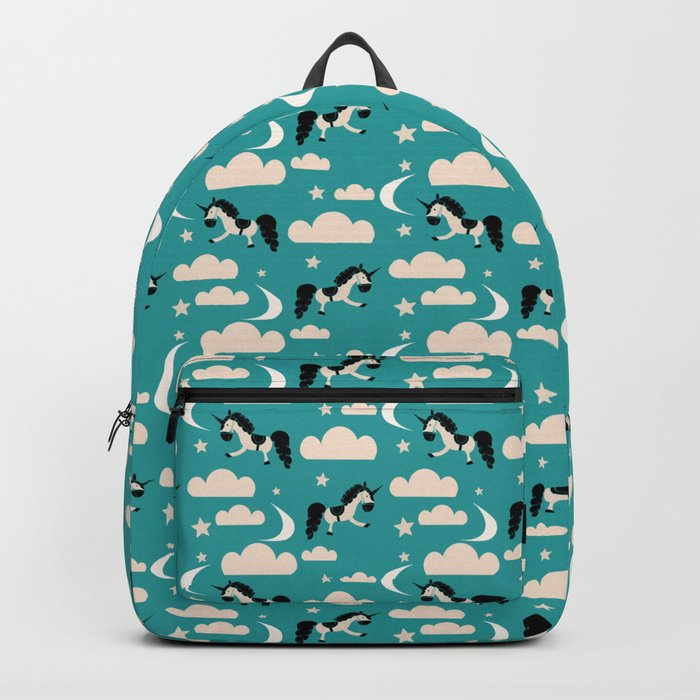 Unicorn Teal Backpack