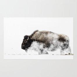 Bison Yellowstone Winter Rug