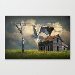Wash on the Line Canvas Print