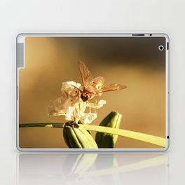 Cicada Hornet on Iris in Sepia Laptop & iPad Skin