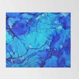 Blue Petunias Throw Blanket