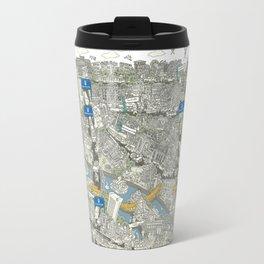 Illustrated map of Berlin-Mitte. Green Travel Mug