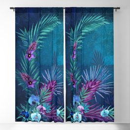 Night Falls on Blue Hawaii Blackout Curtain