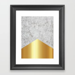 Concrete Arrow Gold #372 Framed Art Print