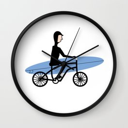 Winter surfer Wall Clock
