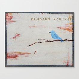 blubird vintage Canvas Print