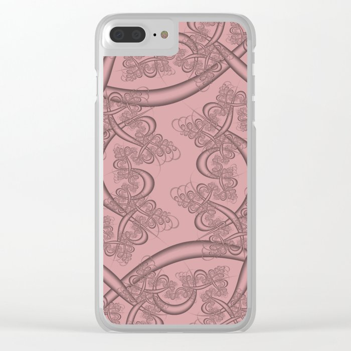 Bridal Rose Fractal Clear iPhone Case