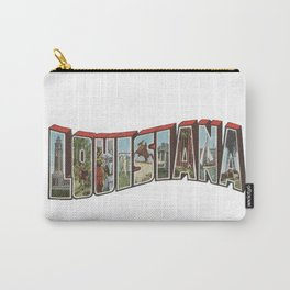 Louisiana Vintage Big Letter Carry-All Pouch