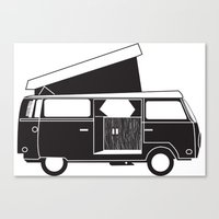 vw bus Canvas Prints featuring VW bus by kirsten bingham