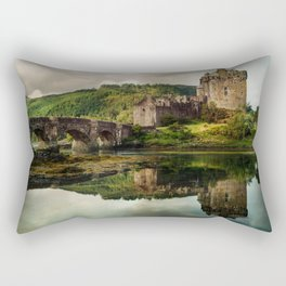 Landscape with an old castle Rectangular Pillow
