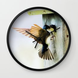 Tree Swallows Wall Clock