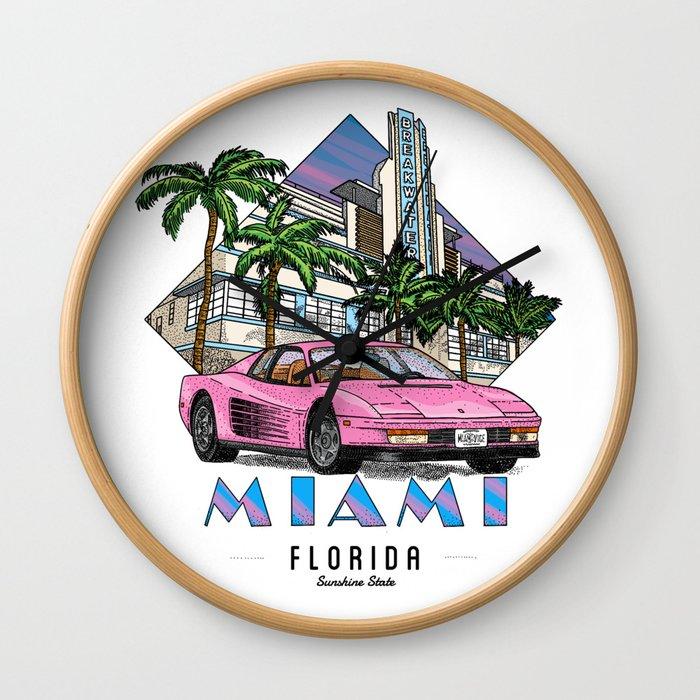 Miami, bedrock of diversity! Wall Clock