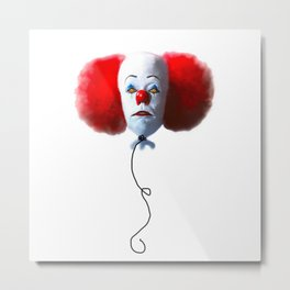 IT bad clown balloon  Metal Print