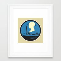 silhouette Framed Art Prints featuring Silhouette by One Little Bird Studio